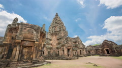 Prasat Hin Phanom Rung historical culture. Stock Footage