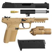 Gun disassembled military, police Stock Illustration