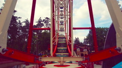 View of the Ferris Wheel of the Booth Stock Footage