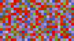 Multiсolor square mosaic tile. Stock Footage
