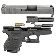 Gun metallic police, military Stock Illustration
