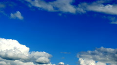 4k video of clouds on blue sky. Timelapse - stock footage
