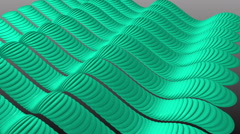 Wavy Aqua Stripes Sine. Stock Footage