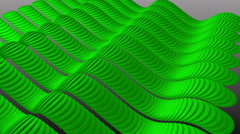 Wavy Green Stripes Sine. Stock Footage