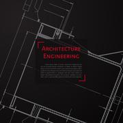 Vector technical blueprint of mechanism Stock Illustration