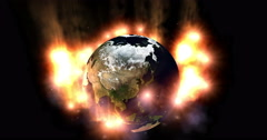 Digital Particle Animation of the Earth Stock Footage