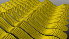 Wavy Yellow Stripes Sine. Stock Footage