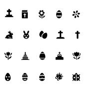 Easter Vector Icons Stock Illustration