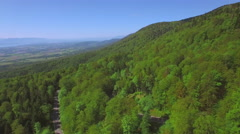 4K Forest aerial shot - Western Europe - stock footage
