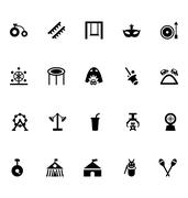 Amusement Park Vector Icons - stock illustration