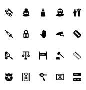 Crime Related Icons Collection Piirros