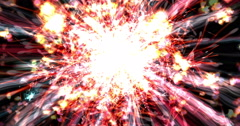 Digital Particle Animation of Light Effects Stock Footage