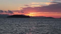 Sunset over Kalymnos Stock Footage