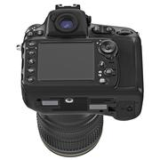 Digital camera, large display, back view Stock Illustration