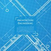 Vector technical blueprint of mechanism - stock illustration