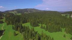 Jura Switzerland Mountain aerial shot Stock Footage