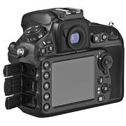 DSLR camera, LCD display, lids open Stock Illustration