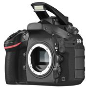 DSLR camera without lens, open flash - stock illustration