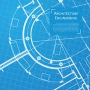 Vector technical blueprint of mechanism Stock Illustration