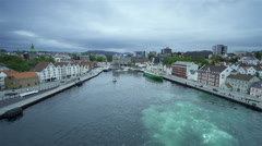 Ship sailed from Stavanger Norway Stock Footage