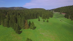 UHD Swiss Mountain drone shot Stock Footage