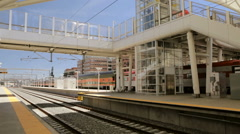 Train platform of Union Station in Denver, Colorado. Stock Footage