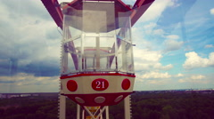 View of the Ferris Wheel From Within Stock Footage