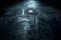 Macro Circuit Board Technology - stock illustration