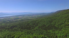 4K Swiss Jura Mountain near Nyon Stock Footage