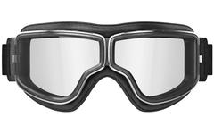 Aviation glasses with chrome inserts, front view - stock illustration