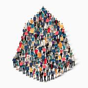Abstract business symbol people Stock Illustration