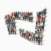 abstract business symbol people - stock illustration