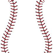 Baseball Lace Background - stock illustration
