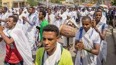 2016 Timket Celebrations in Ethiopia - stock photo