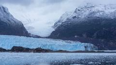 Amalia Glacier in Bernardo O'Higgins National Park, Chile Stock Footage