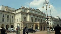 Scala Theater, Milan Stock Footage