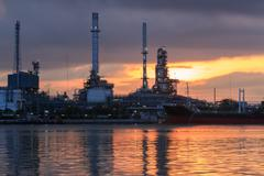 Oil refinery industry plant - stock photo