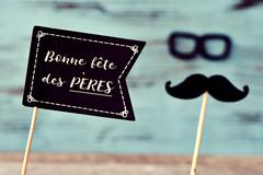 Text bonne fete des peres, happy fathers day in french Stock Photos