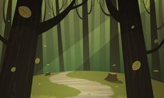 Forest Trail Stock Illustration