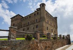 Castle Grinzane Cavour Piedmont - stock photo