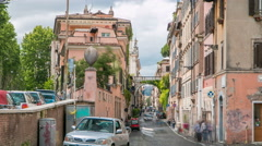 Rome, Italy: Streets of Rome with people engaging in daily activity timelapse Stock Footage