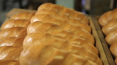 Ruddy freshly baked bread Stock Footage