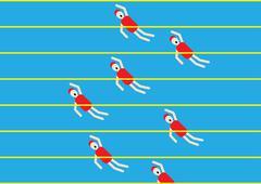 swimming - stock illustration