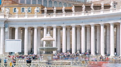 Fountain on St. Peter's square timelapse in Vatican City. Piazza San Pietro and Stock Footage
