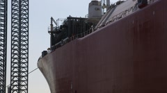 Hull Of The Cargo Vessel - stock footage