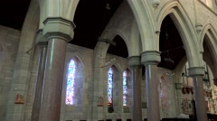 Interior of Bermuda Cathedral (Most Holy Trinity) in Hamilton. Stock Footage
