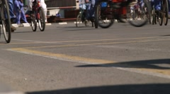 Many People Ride On Bikes Stock Footage