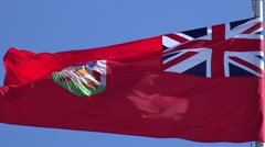 Waving flag of Bermuda Stock Footage