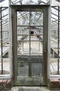 Greenhouse awaiting restoration - stock photo