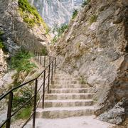 Beautiful Trail, Path, Way, Mountain Road In Verdon Gorge In Fra - stock photo